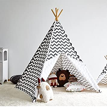 new product eb883 74db3 Kids Teepee Tent with 4 Poles,Play Tent, Kids Teepee ...