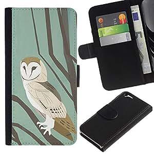 All Phone Most Case / Oferta Especial Cáscara Funda de cuero Monedero Cubierta de proteccion Caso / Wallet Case for Apple Iphone 6 // School Pastel Watercolor Teal Brown