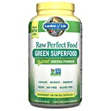 Garden of Life Vegan Green Superfood Supplement - Raw Perfect Whole Food Dietary Capsules, 240 Capsules
