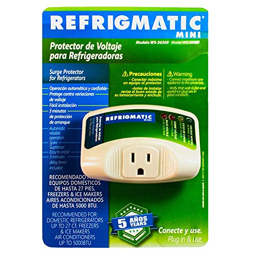 Low Voltage Protection Surge - Refrigmatic WS-36300 Electronic Surge Protector for Refrigerator Up to 27 cu. ft.