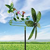 Bits and Pieces - 15'' Hummingbird Dragonfly Whirligig - Durable Wind Spinner - Outdoor Lawn Garden Décor