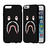Bape Shark IPhone Case Iphone 7 Plus Case Black Rubber IQ