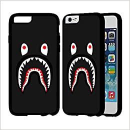 official photos 77c3b 42be9 Bape Shark IPhone Case Iphone 7 Case Black Rubber O0D1ASU: Amazon.co ...