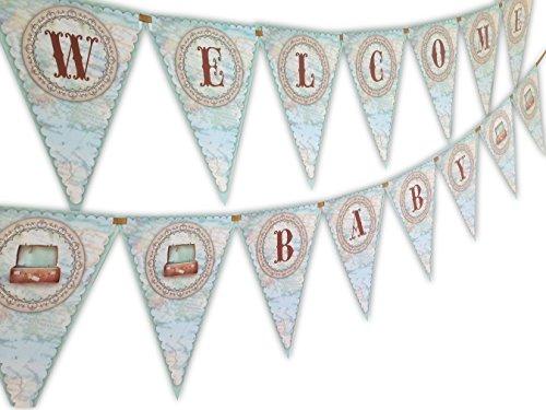 Little Traveler Baby Shower Banner - Banner Map