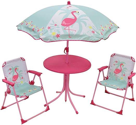 FUN HOUSE 713088 FLAMANT ROSE Salon de Jardin avec 1 Table ...