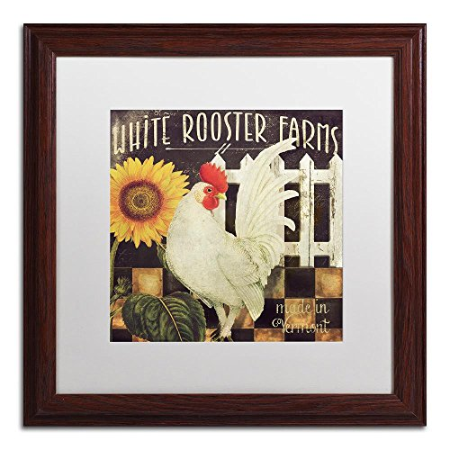 Vermont Farms I by Color Bakery, White Matte, Wood Frame 16x16-Inch