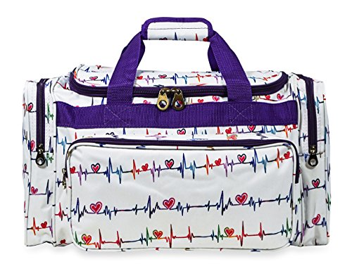 Jenzys Travel Duffle Bag 19 inch (Multi-color Nurse)