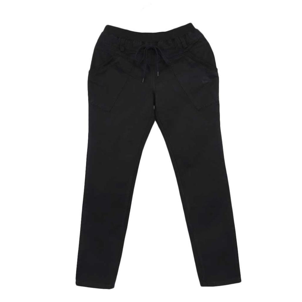 SWPS Women's Trousers Buttons Pants Pencil Elastic Waist Joggers Clearance