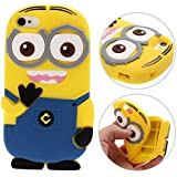 3D Despicable Me II Minions Style Silicone Case for iPhone 4 & 4S (Blue)