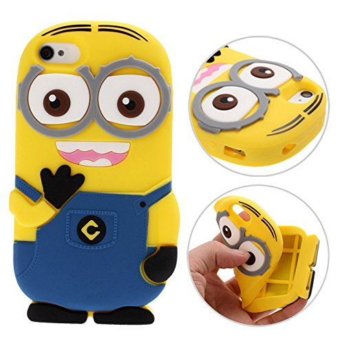 3D Despicable Me II Minions Style Silicone Case for iPhone 4 & 4S (Blue) by - The Supermall