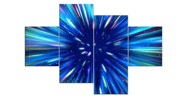 Imágenes Juego Como Lienzo, de imagen sobre madera premontada Marco de 4 piezas Número de Referencia 441100030 Star Explosion Modern Style enmarcado como imagen sobre Marco. Más barato que cuadro al óleo