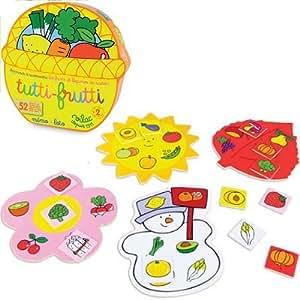 Vilac 6126 Tutti Frutti - Juego de memoria/lotería (instrucciones en francés)