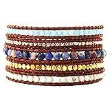 Chan Luu Amazonite Semi Precious Stone Wrap Bracelet