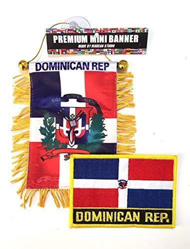 Santo Domingo , Dominican Republic, Dominican flag, Car, auto Home ,Dominican Republic small car auto flag
