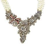 Heidi Daus SWAROVSKI Crystal Beaded Drop Necklace ~ Holiday Classic (Cream)