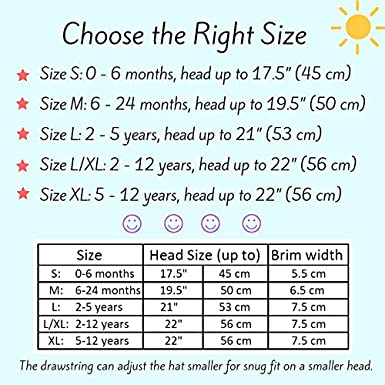 Stay-on Adjustable for Growth Jan /& Jul Baby Toddler Kids Breathable Cotton Bucket Sun-Hat 50 UPF