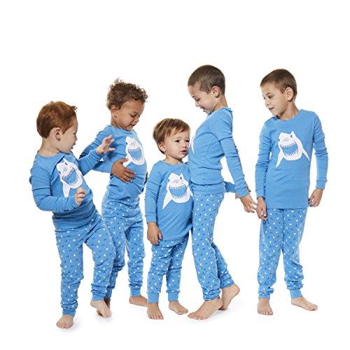 Boys Pajamas Shark 2 Piece 100% Super Soft Cotton (12m-8y) by Bluenido (Image #5)