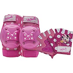 Bell Minnie Mouse Protective Gear with Elbow Pads/Knee Pads and Gloves