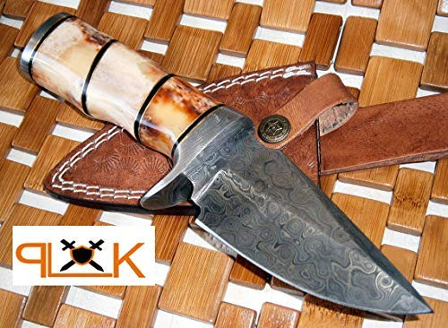 (Custom Handmade Damascus Steel knife (59-40) (Colors/Case may vary))