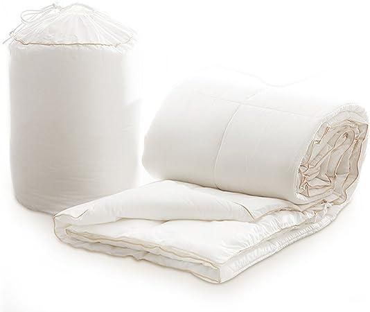 Novohogar Relleno nórdico de Tejido 100% algodón-satén y Fibra Hueca siliconada Tacto plumón con Vivo Dorado 155x220 (220x220): Amazon.es: Hogar