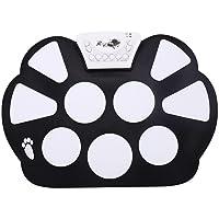 Ecoolbuy Professional 7Coussinets Portable Numérique USB Roll Up Kit tambour Electronique Drum Pad en silicone pliable avec baguettes Pédale TYPE 2