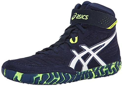 Asics Herren Aggressor 2 Wrestling Schuh Est Blue/White/Flash Yellow