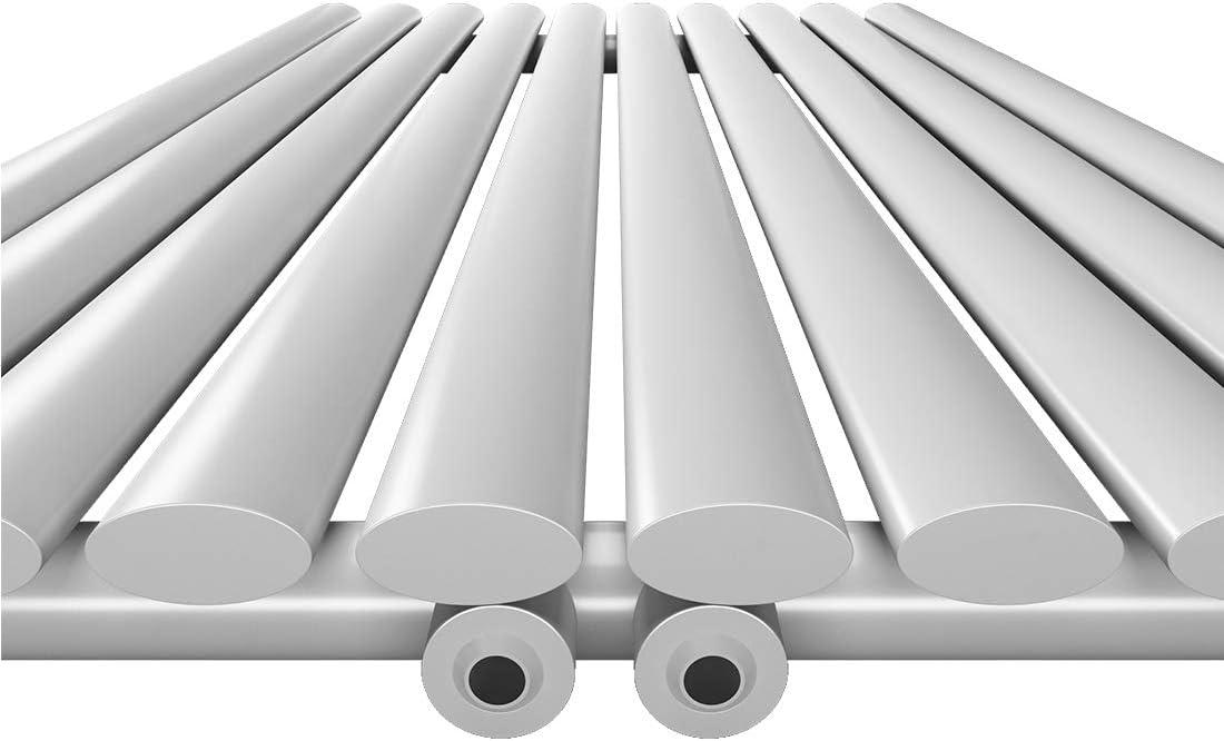 Duschdeluxe Design Heizk/örper Vertikal Paneelheizk/örper 1800x620mm Mittelanschluss Heizung Badheizk/örper Wei/ß