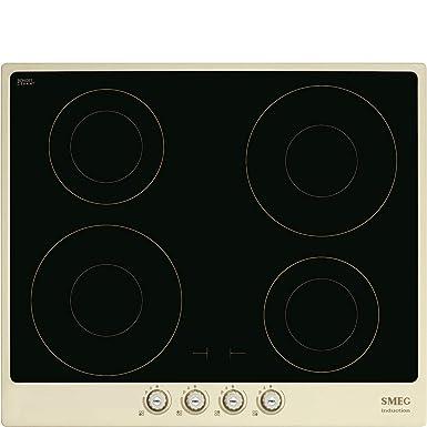 SMEG - SI764POM Placa de inducción con acabado crema: Amazon ...