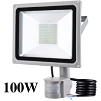 100W Foco LED con Sensor Movimiento, IP65 Impermeable