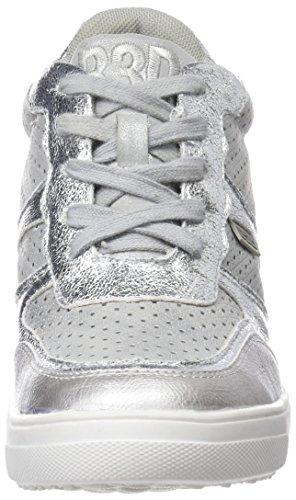 Mujer Plateado Para silver Altas 41440 Zapatillas Bass3d Xqwz4PxI4