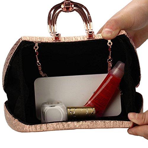 Rhinestone cristal noche bolso de embrague fiesta hombro Messenger bolso dorado de la boda Champagne