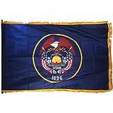 Online Stores Utah Nylon Flag with Indoor Pole Hem and Fringe, 3 by 5-Feet