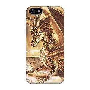 [qjyUfpX7359QFCem]premium Phone Case For Iphone 5/5s/ Gold Dragon Tpu Case Cover