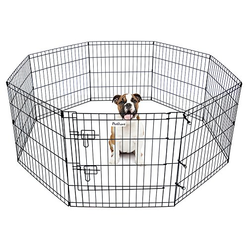 Pet Dog Playpen Foldable Exercise Pen Metal Yard Fence/Portable for travel camping 8 Panel-24