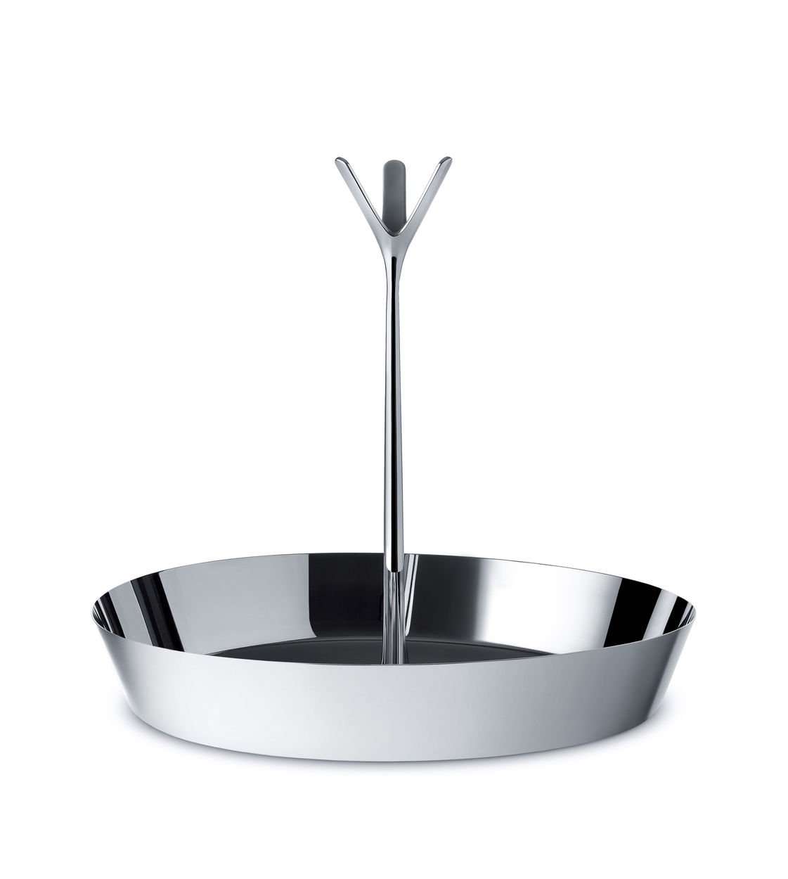Alessi Tutti Frutti Fruit Holder in 18/10 Mirror Polished, Stainless Steel, Silver, 29.5 x 29.5 x 30.5 cm GIA19