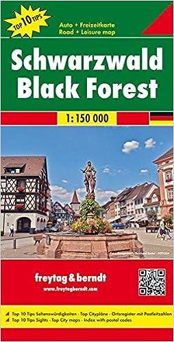 Selva Negra, Mapa De Carreteras. Escala 1:150.000. Freytag & Berndt.: Toeristische Wegenkaart 1:150 000 por Vv.aa. epub