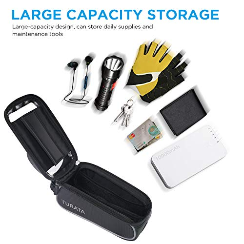 Reviews Summary Pros Cons Turata Bike Bags Bicycle Front Frame Bag Waterproof Handlebar Cycling Top Tube Pannier Touch Screen Sun Visor Large Capacity Mobile Phone Holder Fits Phones Below 6 5 Inches