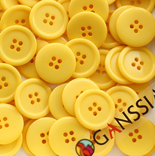 GANSSIA 22 5mm Sewing Button Yellow product image