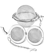 Stainless Steel Tea Ball, GLUBEE 1.8 Inch/4.57cm Mesh Tea Infuser Tea Interval Diffuser for Loose Leaf Tea (Pack of 2)