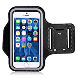 Cell phone armband for running, Fingerprint Touch Supported Gym Running Workout/Exercise Arm Band Case for iPhone 6/6S/7/8/6/6S/7/8 Plus with Key/Card Holder
