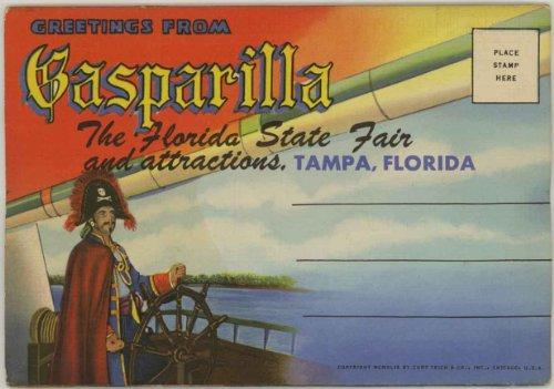 Gasparilla Pirate Festival (Gasparilla Pirate Festival & State Fair Tampa (1940's Souvenir Florida Postcard Folder) #D-9348)