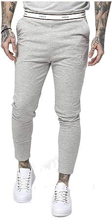 Sik Silk Pantalon de Chandal Pitillo Ajustado Siksilk: Amazon.es ...