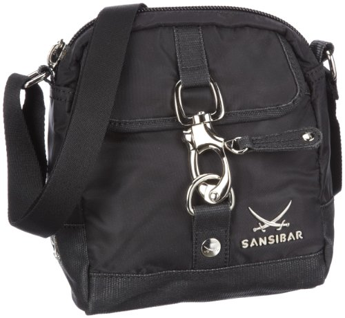 Sansibar Sansibar B-333 TY 01 Damen Umhängetaschen 18x21x8 cm (B x H x T), Schwarz (Black)