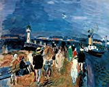 Raoul Dufy Honfleur Jette French Fauvist Painting Print Stretched Canvas Wall Art 24x16 inch