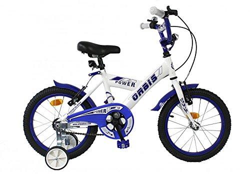 Orbis Bikes 16 Zoll Kinder Fahrrad KINDERFAHRRAD KINDERRAD Jugendfahrrad BMX Bike Stützräder Power Weiss