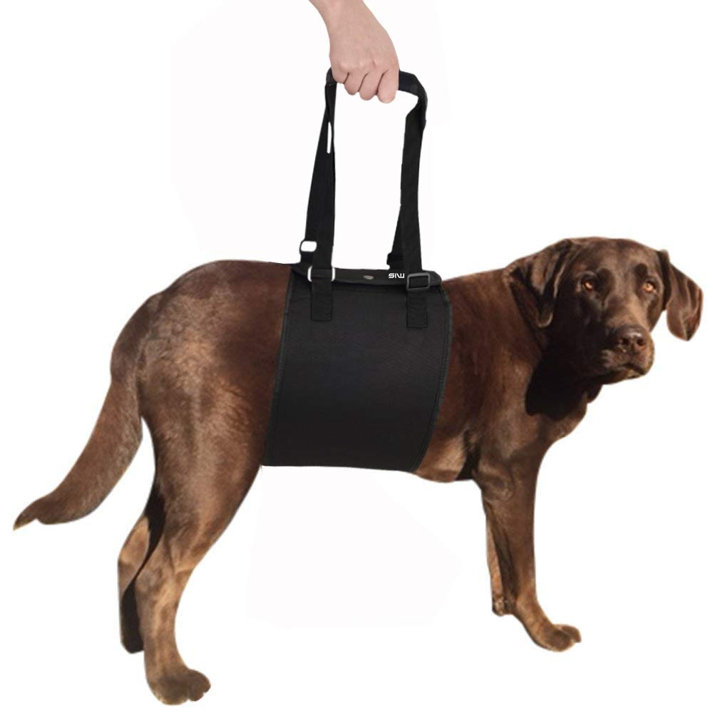 Black X-Large black X-Large USMIS Dog Assistance Lift Support Limping Support Harness for Cruciate Ligament Dog Sling with Handle for Canine Aid, Veterinarian Approved Dog Lift Harness for Rehabilitation (X-Large, Black)