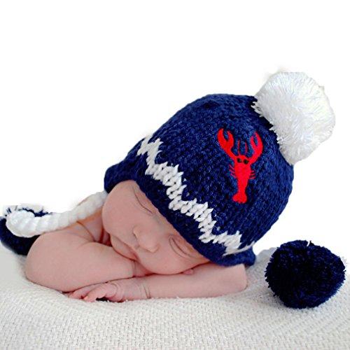 Huggalugs Red Lobster Boys or Girls Beanie Hat S