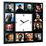 Limited Edition Glow-in-the-dark Horror Movie Killers Hannibal , Pinhead, Chucky, Leatherface, Scream and more Clock