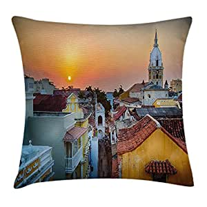 askizmdhfjwe Sunset Throw Pillow Cushion Cover, View Over ...