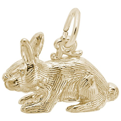 Gold Plated Rabbit Charm, Charms for Bracelets and Necklaces